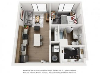 A1 Floor plan layout